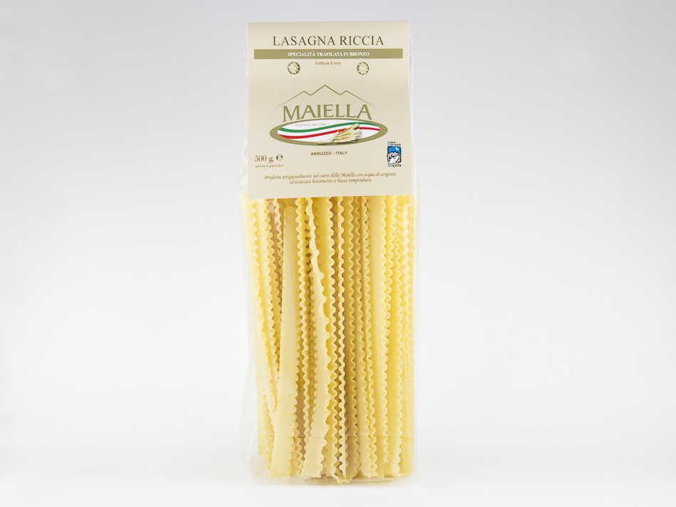 Pasta artigianale abruzzese , lasagna riccia