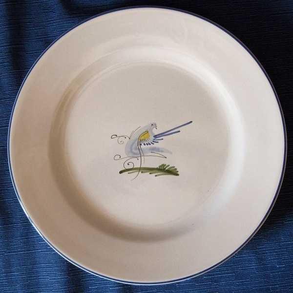 Piatto in ceramica di castelli - volatili | Abruzzonatural prodotti ...