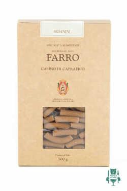 sedanini pasta di farro abruzzese - Casino di Caprafico Santoleri