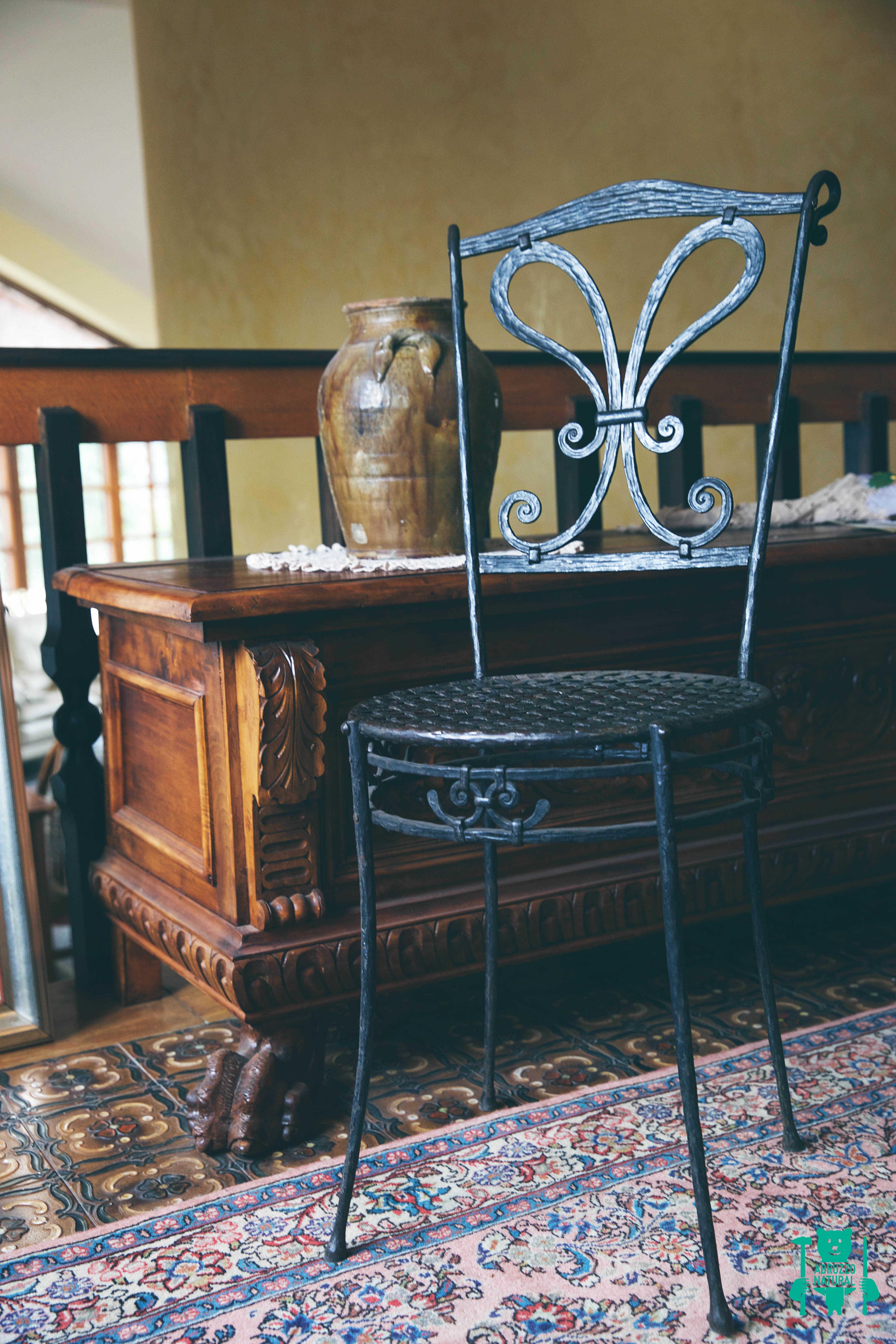 Sedia in ferro battuto abruzzonatural prodotti tipici d for Arredamento ferro battuto